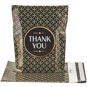 Black Gold Geo PolyMailers 10X13 (10 Pack)